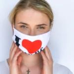 Bedruckte Mund- und Nasen-Maske